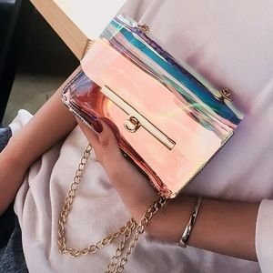Iridescent Mini Crossbody Gold Accent/3 Back Color